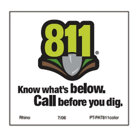 "Decals – 811 Patch, 3"" x 3"" - Pipeline Marker Decals"