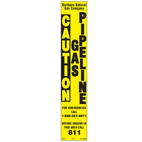 Decals – Post, 1-Rail, Two Color - Pipeline Marker Decals